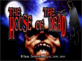 Title screen of House of the Dead on the Sega Saturn.
