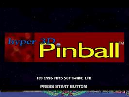 Title screen of Hyper 3-D Pinball on the Sega Saturn.