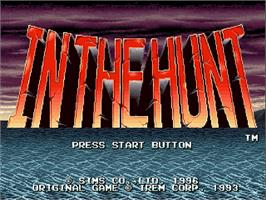 Title screen of In The Hunt on the Sega Saturn.