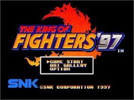 Title screen of King of Fighters '97, The on the Sega Saturn.