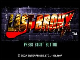 Title screen of Last Bronx on the Sega Saturn.