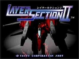 Title screen of Layer Section 2 on the Sega Saturn.