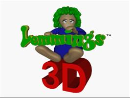 Title screen of Lemmings 3D on the Sega Saturn.