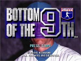 Title screen of MLBPA: Bottom of the 9th on the Sega Saturn.