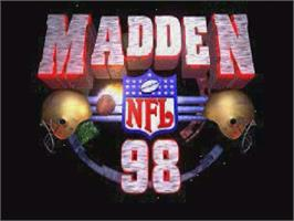 Title screen of Madden NFL '98 on the Sega Saturn.