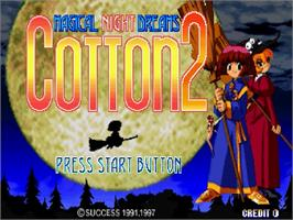 Title screen of Magical Night Dreams: Cotton 2 on the Sega Saturn.