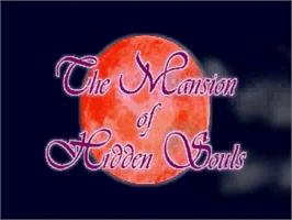 Title screen of Mansion of Hidden Souls on the Sega Saturn.