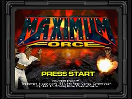 Title screen of Maximum Force on the Sega Saturn.