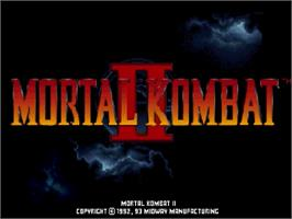 Title screen of Mortal Kombat II on the Sega Saturn.