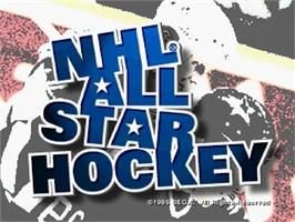 Title screen of NHL All-Star Hockey on the Sega Saturn.