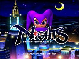Title screen of NiGHTS into Dreams... on the Sega Saturn.
