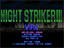 Title screen of Night Striker S on the Sega Saturn.