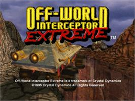 Title screen of Off-World Interceptor Extreme on the Sega Saturn.