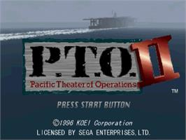 Title screen of P.T.O.: Pacific Theater of Operations 2 on the Sega Saturn.