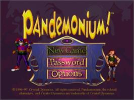 Title screen of Pandemonium on the Sega Saturn.