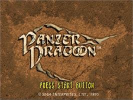 Title screen of Panzer Dragoon: Playable Preview on the Sega Saturn.