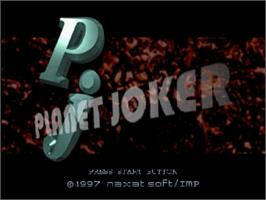Title screen of Planet Joker on the Sega Saturn.