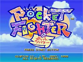 Title screen of Pocket Fighter on the Sega Saturn.
