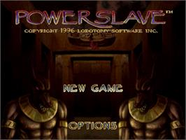 Title screen of Powerslave on the Sega Saturn.