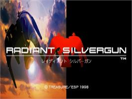 Title screen of Radiant Silvergun on the Sega Saturn.