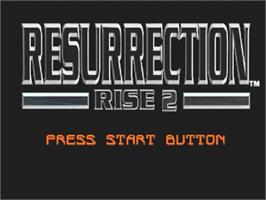 Title screen of Resurrection: Rise 2 on the Sega Saturn.