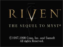 Title screen of Riven: The Sequel to Myst on the Sega Saturn.