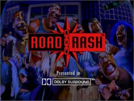 Title screen of Road Rash on the Sega Saturn.