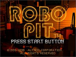 Title screen of Robo Pit on the Sega Saturn.