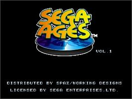 Title screen of SEGA AGES: Columns Arcade Collection on the Sega Saturn.