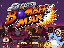 Title screen of Saturn Bomberman on the Sega Saturn.