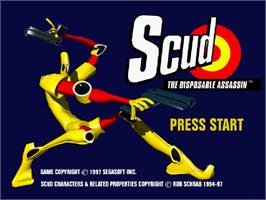 Title screen of Scud: The Disposable Assassin on the Sega Saturn.
