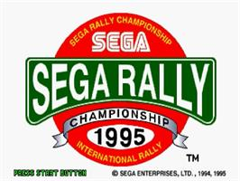 Title screen of Sega Rally Championship on the Sega Saturn.