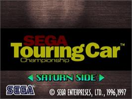 Title screen of Sega Touring Car Championship on the Sega Saturn.