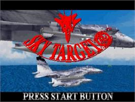 Title screen of Sky Target on the Sega Saturn.
