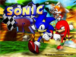 Title screen of Sonic R on the Sega Saturn.