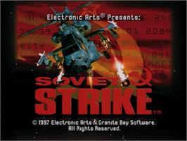 Title screen of Soviet Strike on the Sega Saturn.