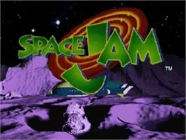 Title screen of Space Jam on the Sega Saturn.