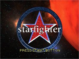 Title screen of Star Fighter 3000 on the Sega Saturn.