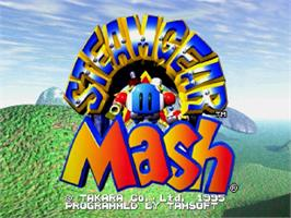 Title screen of Steamgear Mash on the Sega Saturn.