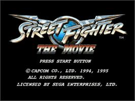 Title screen of Street Fighter: The Movie on the Sega Saturn.
