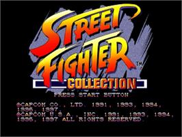 Title screen of Street Fighter Collection on the Sega Saturn.