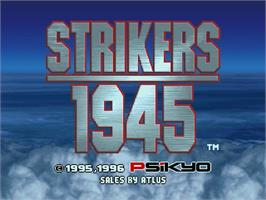 Title screen of Strikers 1945 on the Sega Saturn.