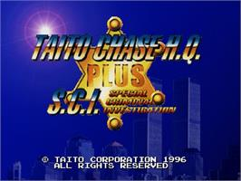 Title screen of Taito Chase H.Q. Plus S.C.I. on the Sega Saturn.