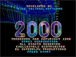 Title screen of Tempest 2000 on the Sega Saturn.