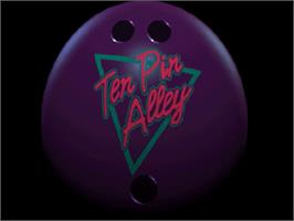 Title screen of Ten Pin Alley on the Sega Saturn.