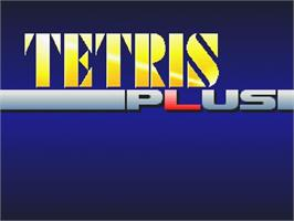 Title screen of Tetris Plus on the Sega Saturn.