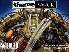 Title screen of Theme Park on the Sega Saturn.
