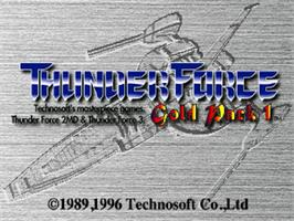 Title screen of Thunder Force: Gold Pack 1 on the Sega Saturn.