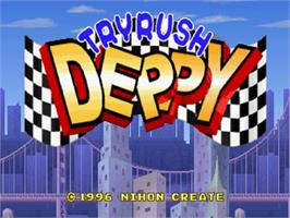 Title screen of Tryrush Deppy on the Sega Saturn.