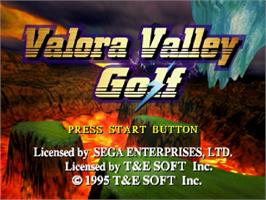 Title screen of Valora Valley Golf on the Sega Saturn.